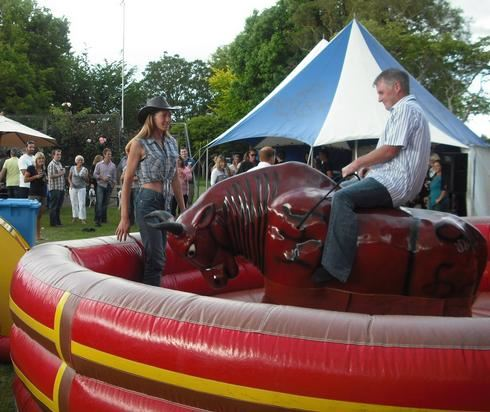 Fiona running Mechanical Bull
